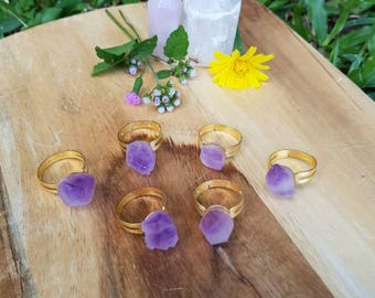 Amethyst point rings