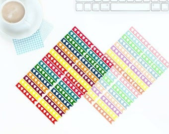 40 Multi-coloured Bright OR Pastel Checklist Stickers for Erin Condren LifePlanner