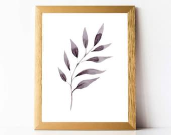 Leaves Art Print PRINTABLE | Leaves Wall Art | Nature Art Print 11x14 8x10 5x7 | Bedroom Wall Art Printable | Nature Prints INSTANT DOWNLOAD
