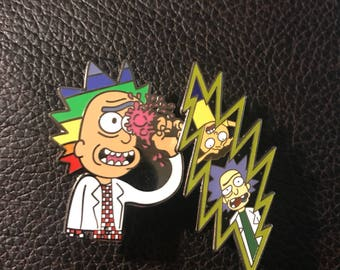 Combo 2 Rick and Morty Grateful Dead pins