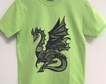 Dragon T-Shirt, Kids Tees, Youth Dragon Shirt, Gift for Kids, Dragon Lovers, Zen Tees, Children's Clothing, Fantasy T-Shirts, Fun Tees