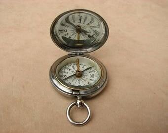 Negretti & Zambra, London, WW1 era pocket compass dated 1917.