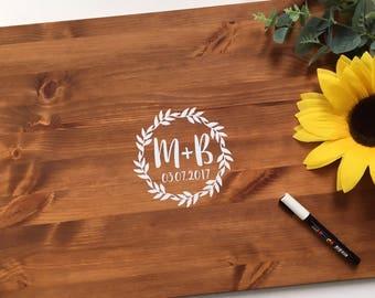 Wooden Rustic Wedding Guest Board Medium - Custom Guest Signing Board - Alternative Wedding Guest Book - Advice Board - 58cm x 42cm