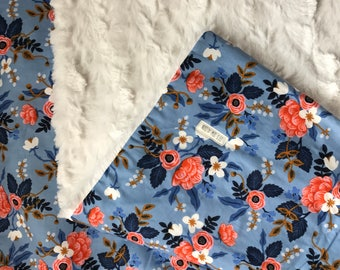Rifle Paper Co Baby Blanket - Baby Girl Blanket - Baby Gift - Floral Baby Blanket