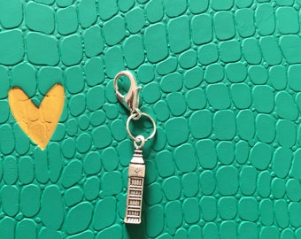 London planner charm, Big Ben planner charm, planner accessories, clip on charm, bag charm, zipper charm.