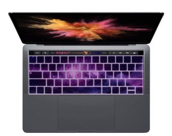 Universe Pattern Silicone Keyboard Cover Skin For Macbook Pro 13 15 With Touch Bar 2016 US