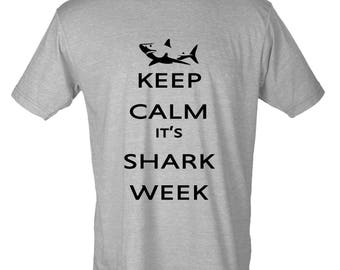 Keep Calm It's Shark Week Graphic T-Shirt Discovery Channel