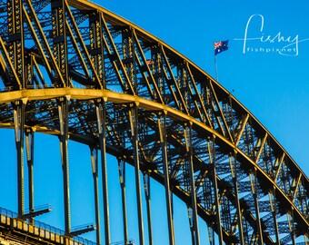 Sydney Harbour Bridge @ Dawn Digital Download, Professionally shot limited edition image. Sydney Harbour, Sydney Sunrise, Harbour Bridge