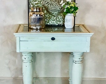 Whimsical Key Box Accent Table