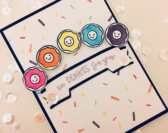 Funny Card, Love Card, Donut card, punny valentine, I'm donuts for you, donut valentine, cute valentine card, donut valentine card, donuts