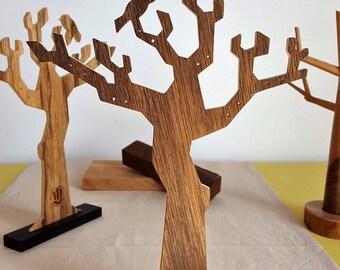 Jewelry tree made of different Woods - Mastro Deco
