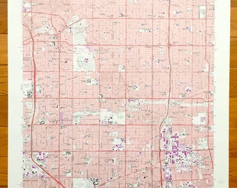 Inglewood Map Art Etsy - Inglewood map