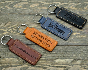 Personalized Leather Keychain / Personalized Keychain / Custom Leather Keychain / Anniversary Gift / Valentines day  gift / Wedding -KC02#10