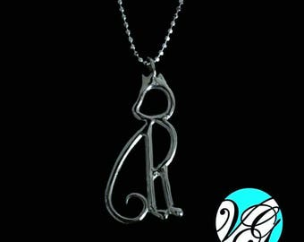 Cat 925 Silver necklace