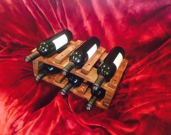 6 Bottle wine rack from Wine Barrel Staves