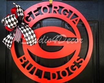 """Georgia Football Door Hanger-20"""""""