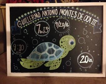 custom chalkboard baby announcements