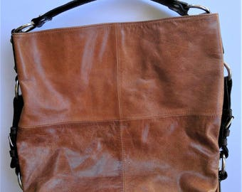 Tano Large Brown Leather HOBO Handbag