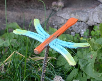Welded Metal Dragon Fly Lawn and Garden Sculpture