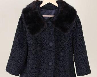 Best Summer Sale Lambswool Coat with Mink Fur Collar
