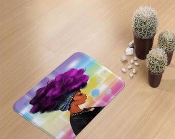 Afro Black Girl Magic 1 Bathmat
