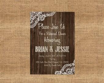 Rehearsal Dinner Invitations- DIY PRINTABLE Customizable Digital Prints