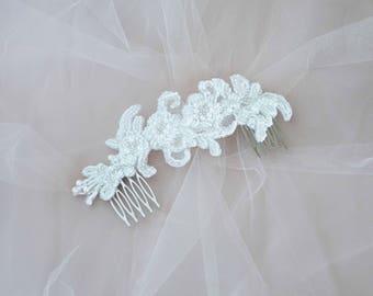Bridal Headpiece, Wedding Headpiece,Lace Bridal Hair Piece, Bridal Head Piece, Bridal hair comb