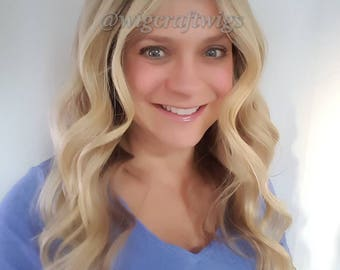 """21"""" Blonde Highlighted Full Lace"""