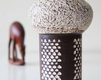 Rare shaped Strehla vase, Germany. Mid century modern