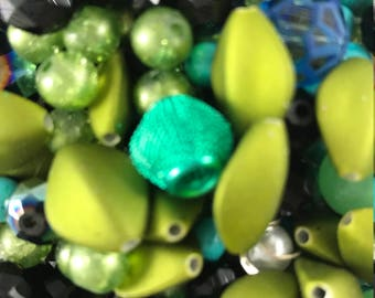 Green Beads - Grab Bag
