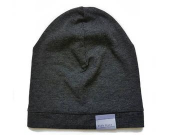Bamboo Soft Beanie | Heather Dark Grey