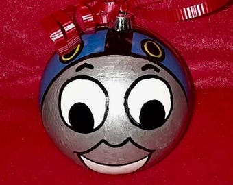 Hand Painted Thomas The Tank Engine Ornament