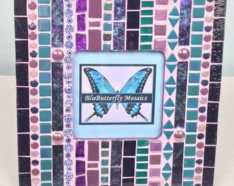 Purple BoHo Mosaic Picture Frame