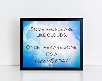 inspirational signs for office. clouds print funny signs for office inspirational wall art n