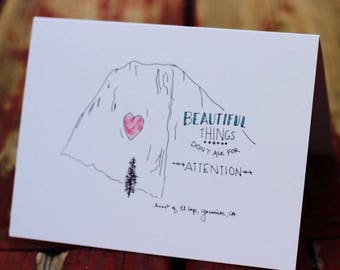 Yosemite Greeting Cards (Pack of 5 different cards/envelopes)