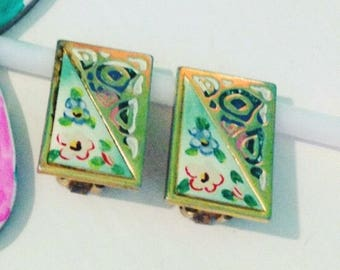 Vintage 70 Years Earrings! Vintage Earrings 70 Years