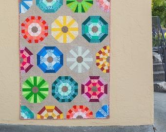 NEW Sea Urchin Quilt Kit featuring Reef by Elizabeth Hartman