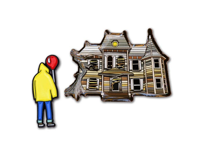 Derry House & Boy Pin Set