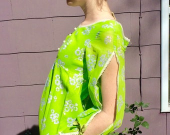 1960's Chartreuse Baby Doll Dress