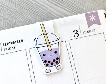 Bubble Tea Magnetic Bookmarks