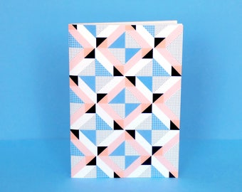 """Notebook Planner with geometric shapes """"Belleville"""" - Size 4,5"""" x 6,6"""""""