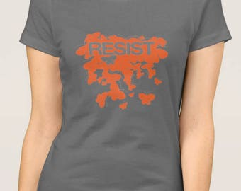 RESIST - Butterflies - Solid Orange T-Shirt
