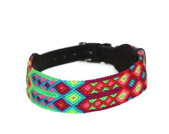 Neon Dog Collar - Red/Yellow/Pink