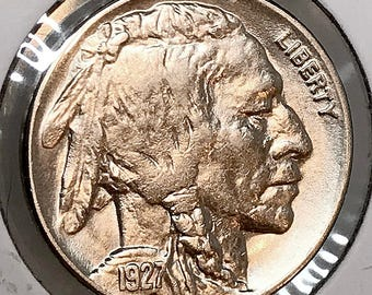 1927 P Buffalo Nickel - Gem BU / MS / Unc