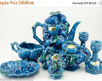 FLASH SALE Inarco Mood Indigo Blue Ceramic Set Made in Japan