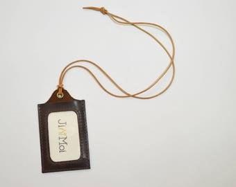 JIMOI‧Dark Purple‧Card Holder with leather rope#1