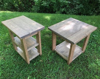 Country Side Table, End Table, Accent Table, Farmhouse Table, Rustic Table
