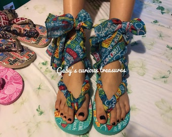 Scarf strappy sandals