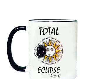 Custom 2017 Total Eclipse Mug, Total Eclipse Mug, Solar Eclipse Mug, Eclipse Gift, Eclipse Souvenir,Solar Eclipse Cup,2017 Solar Eclipse Mug