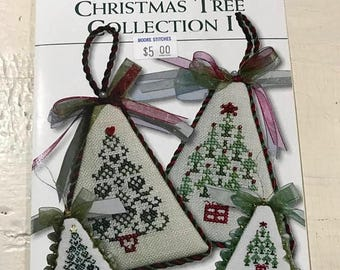 PRE-SUMMERSALE J & W Designs Christmas Tree Collection I and Ii pattern books
